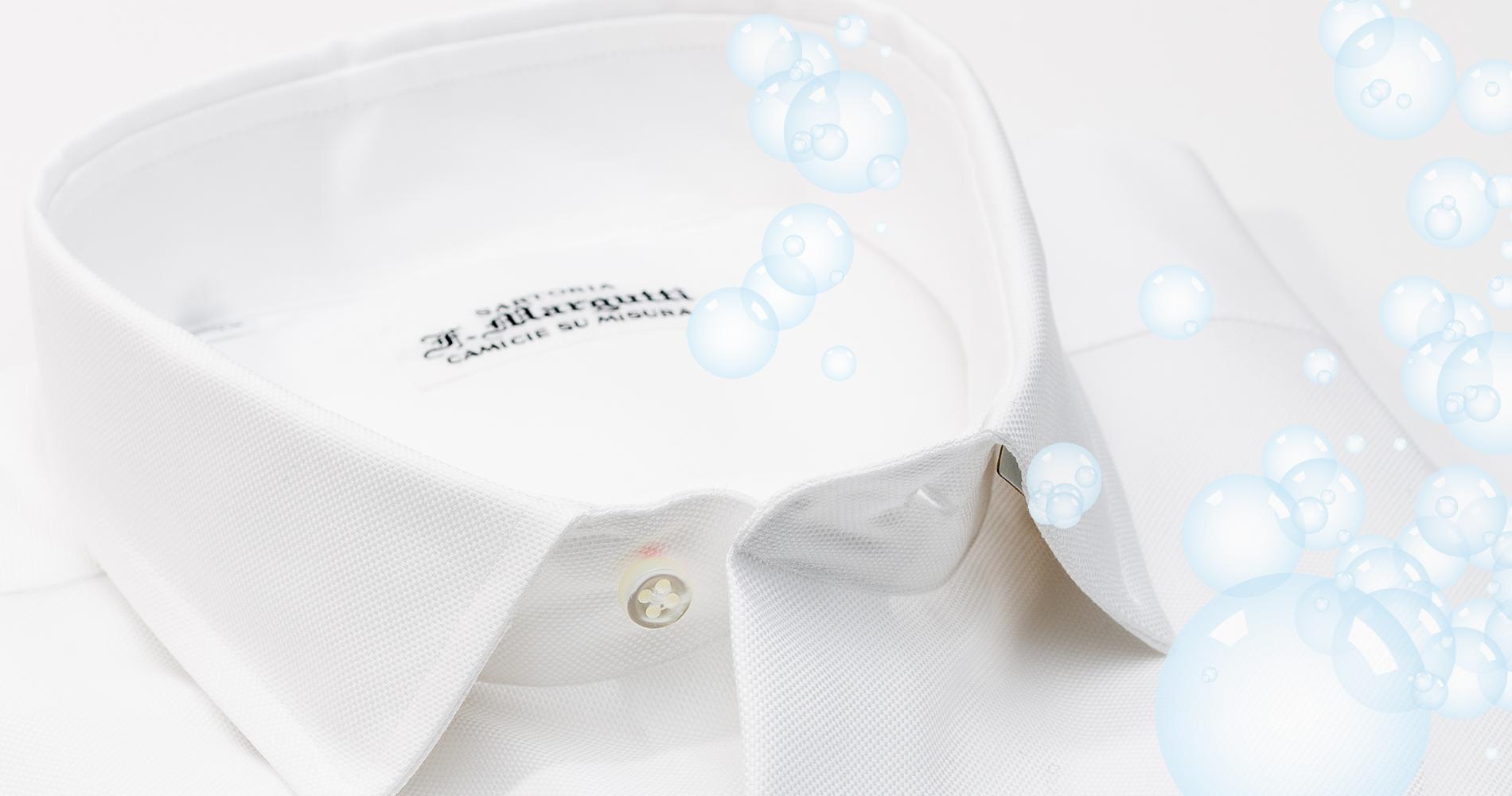 lavare camicia bianca