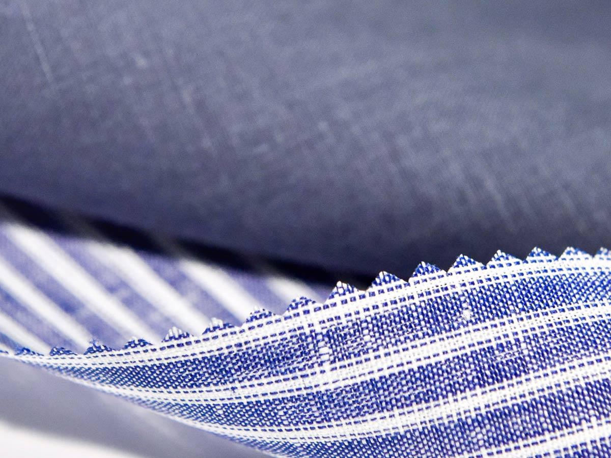 particolare tessuto albini per camicie