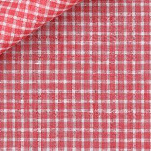 Tessuto camicia quadri rossi