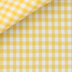 tessuto camicia gialla a quadri
