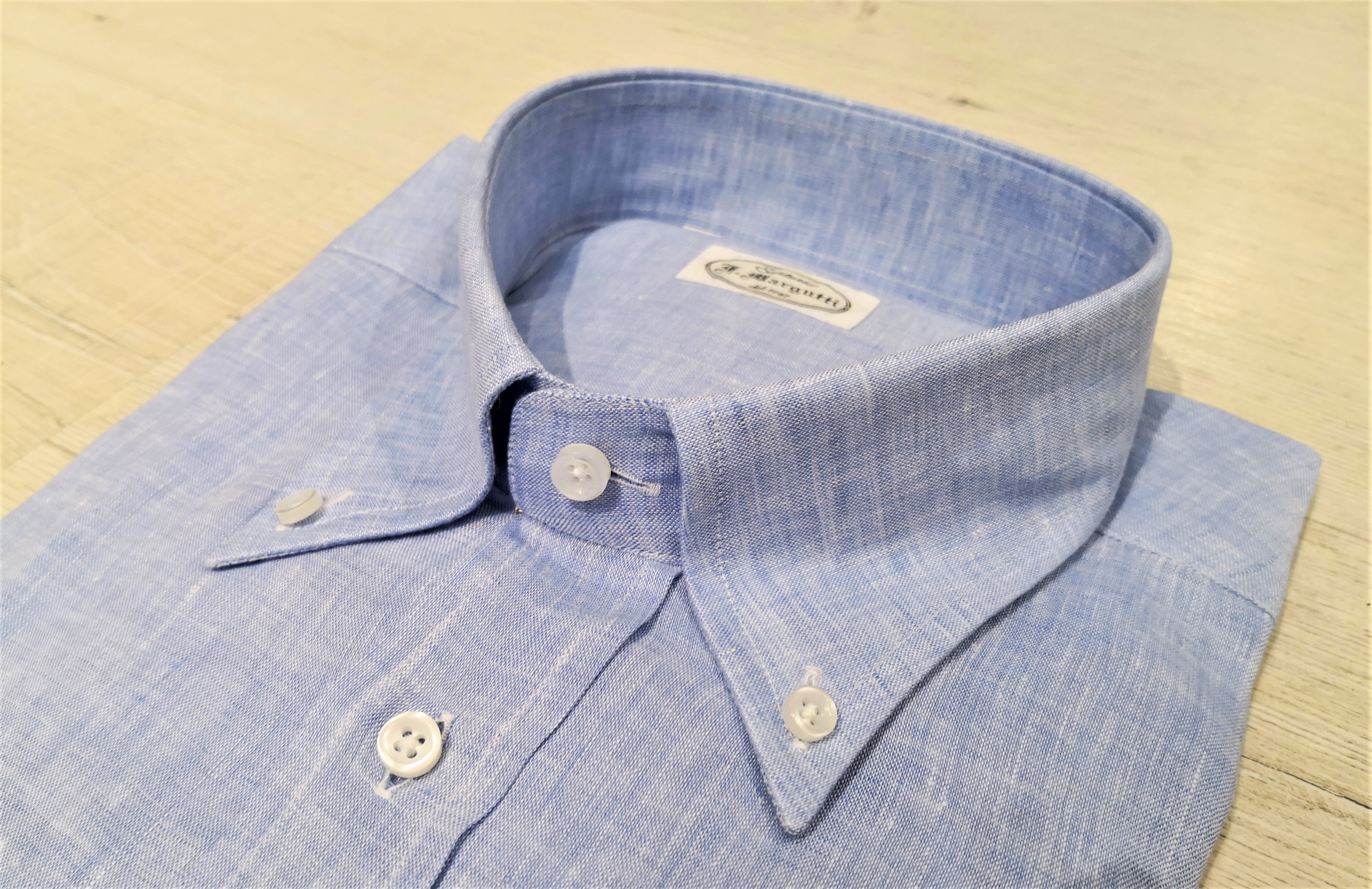 colletto camicia di lino