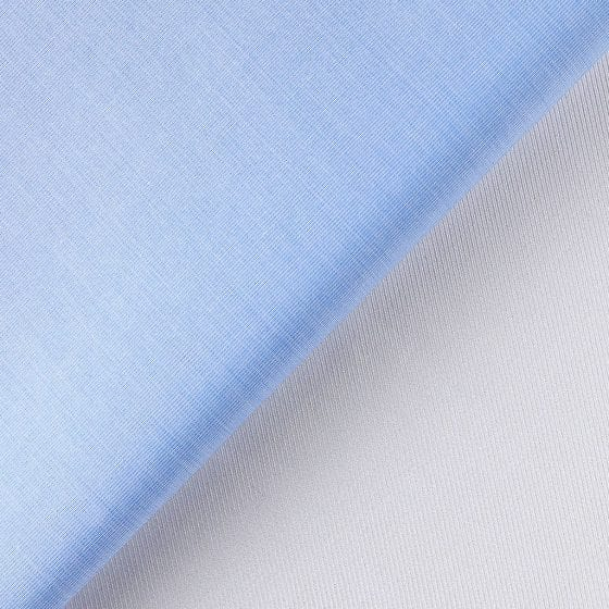 tessuti azzurro e bianco organici