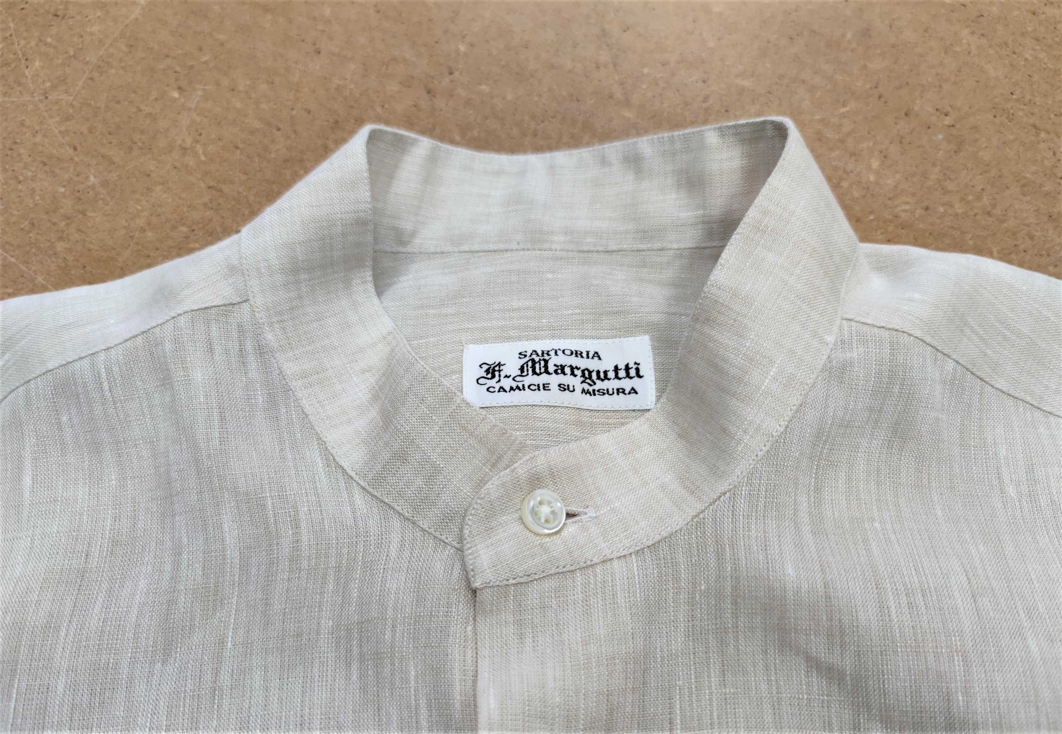 camicia beige lino