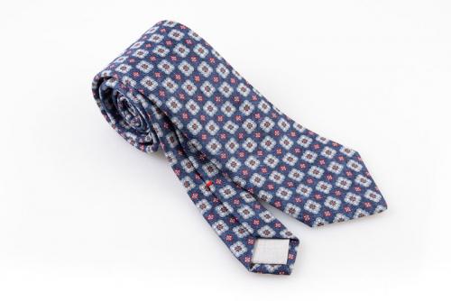 Cravatta artigianale sartoria fatta a mano blu