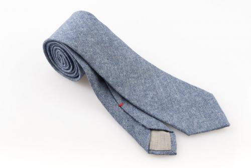 Cravatta artigianale sartoria fatta a mano celeste