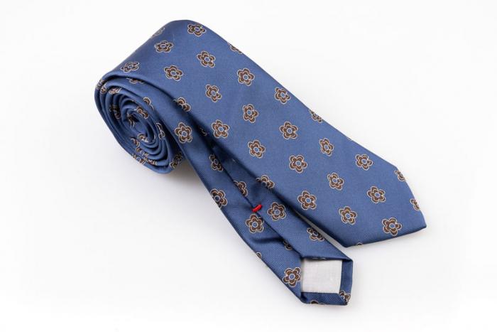 Cravatta artigianale sartoria fatta a mano denim