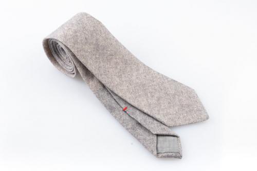 Cravatta artigianale sartoria fatta a mano grigia