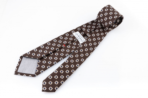 Cravatta artigianale sartoria fatta a mano marrone