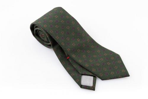Cravatta artigianale sartoria fatta a mano verde