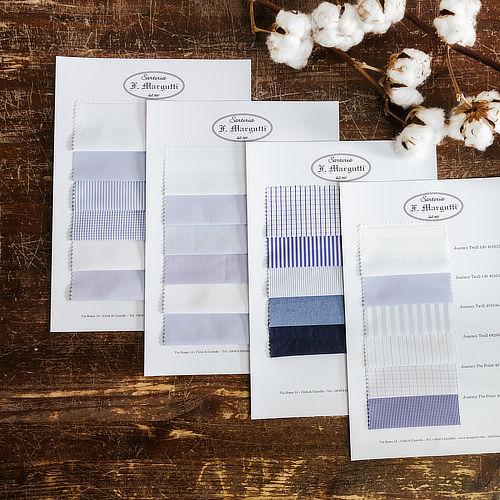 Campionario di 24 tessuti scelti per te per la tua camicia Margutti